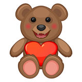 Bear and heart Stock Images