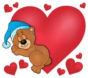 Bear with heart theme image 1. Eps10 vector illustration Royalty Free Stock Photos