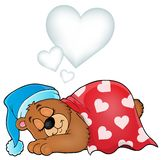 Bear with heart theme image 3 Royalty Free Stock Images
