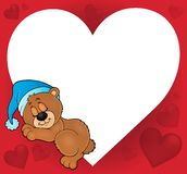 Bear with heart theme image 2 Royalty Free Stock Photo