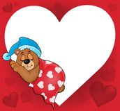 Bear with heart theme image 4 Royalty Free Stock Image