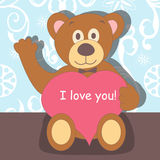 Bear with heart Royalty Free Stock Photo