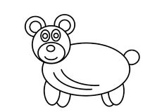 Bear high quality kids coloring pages Royalty Free Stock Images