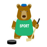 Bear hockey Stock Photography