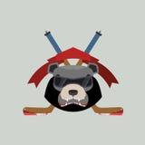 Bear Hockey Logo. Vector illustration Royalty Free Stock Image