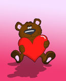 Bear Holdin' Heart Stock Photography