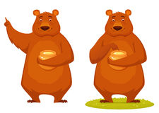 Bear holding honey jar Stock Photography