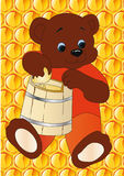 Bear with honey Stock Images