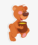 Bear and Honey Stock Photos