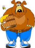 Bear and honey Royalty Free Stock Images