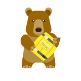Bear with honey Royalty Free Stock Photography