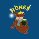 Bear and honey Stock Photography