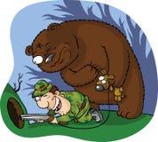 Bear hunter Royalty Free Stock Photo