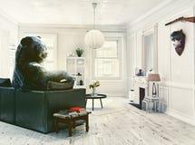 The bear - hunter Stock Photo