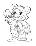 Bear with ice cream cone Stock Image