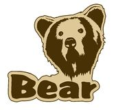 Bear icon Royalty Free Stock Photography