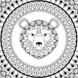Bear icon. Animal and Ornamental predator design. Vector graphic Royalty Free Stock Photography