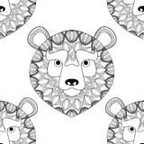 Bear icon. Animal and Ornamental predator design. Vector graphic Royalty Free Stock Images