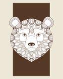 Bear icon. Animal and Ornamental predator design. Vector graphic Royalty Free Stock Image