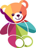 Bear icon. Colored bear icon in flat design style Stock Image
