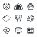Bear icon set Royalty Free Stock Image