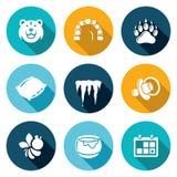 Bear Icons Set. Vector Illustration. Stock Photos