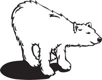 Bear Illustration. Line Art Illustration of a Bear Royalty Free Stock Photos