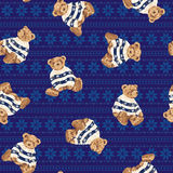 Bear illustration pattern Stock Image