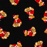 Bear illustration pattern Stock Images