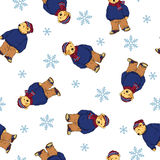 Bear illustration pattern Royalty Free Stock Photos