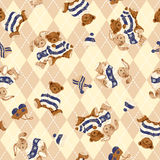 Bear illustration pattern Royalty Free Stock Images