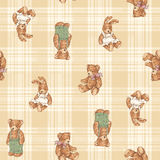 Bear illustration pattern. I made the illustration of a pretty bear Royalty Free Stock Images