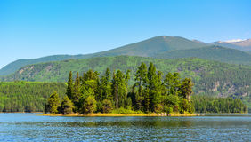 Bear island  on the lake Frolikha Royalty Free Stock Photos