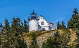 Bear Island Lighthouse, Maine. Bear Island Lighthouse at the entrance to Mount Desert Harbor, Maine royalty free stock photography