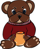 Bear with jar of honey Stock Images