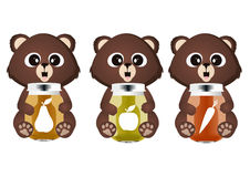 Bear with juice Stock Images