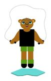 Bear Jumping Rope Royalty Free Stock Photography