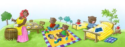 Bear kindergarten Stock Photos