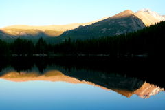 Bear Lake. Dusk looms at Rocky Mountain National Park's Bear Lake Royalty Free Stock Photography