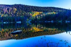 Bear Lake. This image of Bear Lake was captured in early autumn.  Bear Lake is in the Rocky Mountain National Park in Colorado.  This photograph was taken just Stock Photography