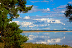 The bear lake in kurganskaya oblast. Russia Stock Photography