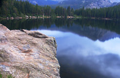 Bear Lake Rocky Mountain National Park. Reflections of the mountains in Bear Lake in Rocky Mountain National Park Royalty Free Stock Photography