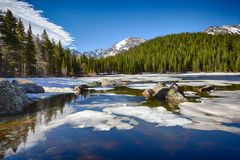 Bear Lake at the Rocky Mountain National Park Stock Image