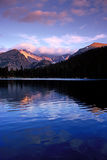 Bear Lake, Rocky Mountain National Park. Sunset on Long's Peak reflects in Bear Lake, Rocky Mountain National Park, Colorado Royalty Free Stock Images