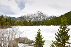 Bear Lake in Rocky Mountains Royalty Free Stock Photo