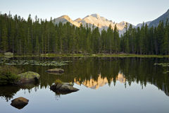 Bear Lake at Sunrise. Rocky Mountain National Park, Colorado, United States Stock Photos