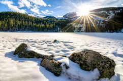 Bear Lake Sunset in Colorado Royalty Free Stock Image