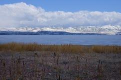 Bear Lake, Utah. Winter at Bear Lake, Utah Royalty Free Stock Images