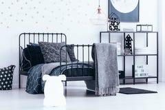 Bear lamp in bedroom interior