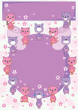 Bear Land Circle Card_eps Stock Photos